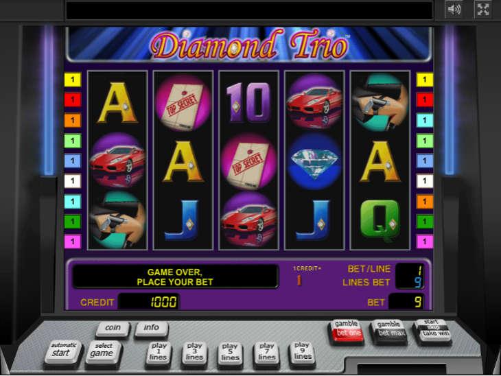 Азартные игры алмазное трио игровые автоматы сан лайт казино играть бесплатно